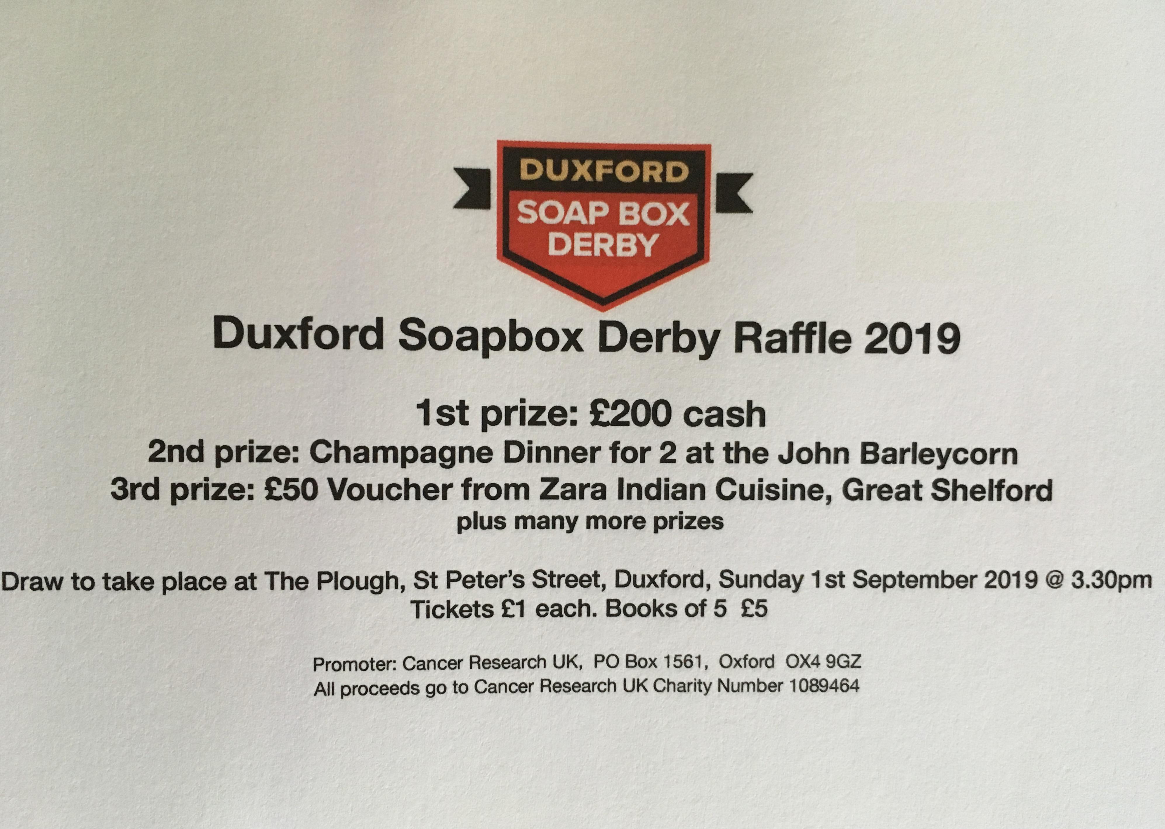 Soapbox derby raffle tickets